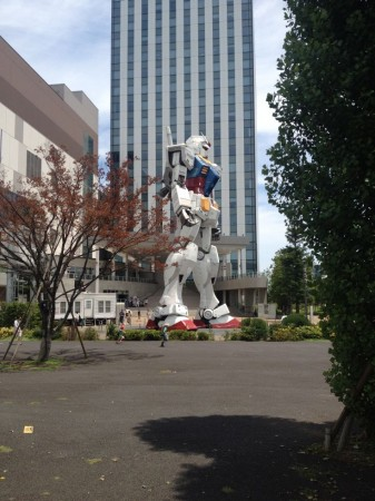 First glimpse of the Gundam.