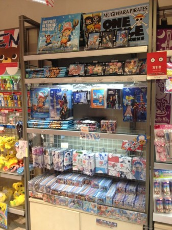One Piece merchandise in Odaiba
