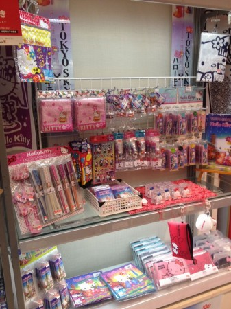 Hello Kitty goods in Odaiba