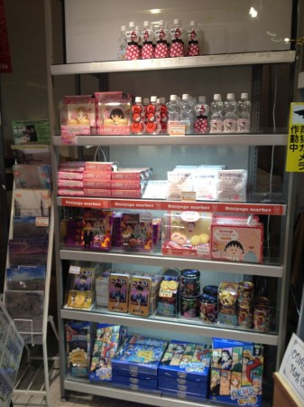 anime snacks at Odaiba tourist store